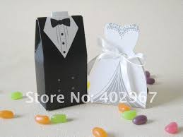 and groom favor boxes 50pairs and groom 100pcs tuxedo groom bridal wedding dress