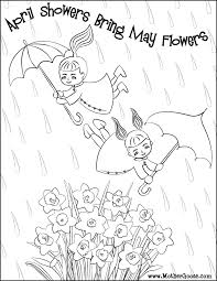 8 images of free printable may coloring pages month of may