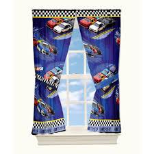 Nascar Bedroom Furniture by Nascar U0027drafting U0027 Curtain Panel Set Of 2 Walmart Com