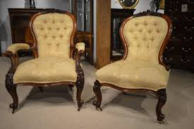 Antique Chair Styles by Pair Of Walnut Victorian Period Antique Chairs At 1stdibs