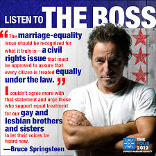 Anti Gay Marriage Meme - bruce springsteen speaks out for marriage equality boston spirit