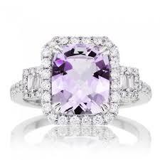 amethyst engagement rings 10x8 de engagement ring halo three setting