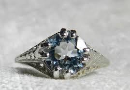 aquamarine ring aquamarine engagement ring 2 ct cushion cut 14k