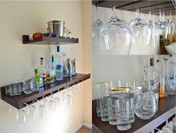 Bar Wall Shelves by Our Living Room