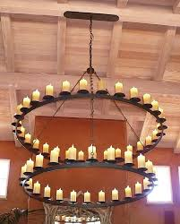 Iron Ring Chandelier Two Tier Iron Ring Chandelier Iron Ring Chandeliers Black Iron