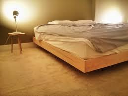 diy floating platform bed using 2x3 2x4 1x4 white oak some