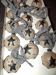 homespun primitive ornaments and then i made some