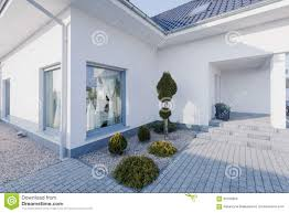 modern white house exterior stock photo image 56168954