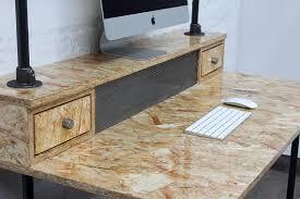 bureau en osb pinder très brillant laqué bureau industriel en osb avec