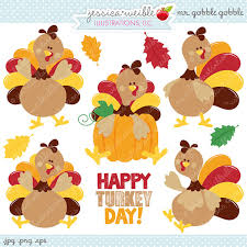mr gobble gobble digital clipart commercial use ok