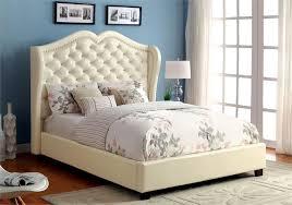 monroe ivory platform bed cm7016