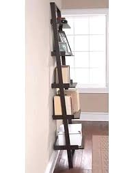 5 Tier Bookshelf Ladder Bookcase Dark Espresso Leaning Bookshelf Hometrends 5 Tier Solid