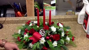 three candle christmas centerpiece by everyday flowers youtube