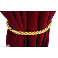 Rope Tiebacks For Curtains Homey Ideas Curtain Rope Tiebacks For Curtains Evideo Me