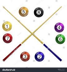 Two Cue Billiard Balls White Stock Vector Shutterstock