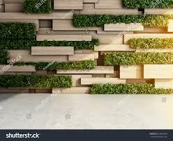 wall modern interior wooden blocks vertical stock illustration