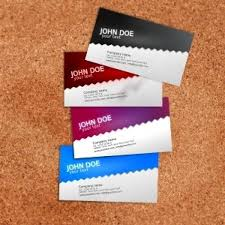 standard business card template vector free download
