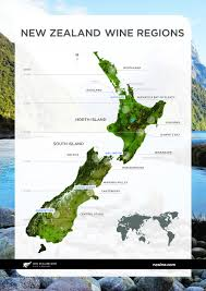 Map New Zealand New Zealand Wine Map Regions Grape Varieties History And More