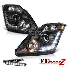 Led Light Bar Headlight by 2003 2004 2005 350z Coupe Convertible Black Led Projector