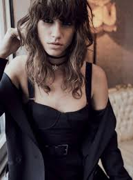 antonina petkovic models a new take on the little black dress for