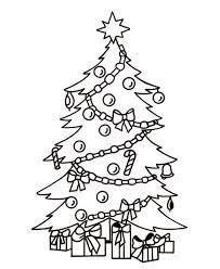 christmas tree coloring page christmas lights decoration