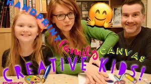 creative kids thursday weekly craft handprint family canvas