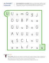 letter u worksheets sparks