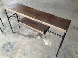 reclaimed wood entry table entry table console table sofa table made of reclaimed wood and