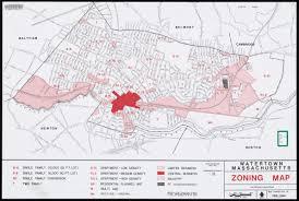 Map Of Cambridge Ma Watertown Massachusetts Zoning Map Digital Commonwealth
