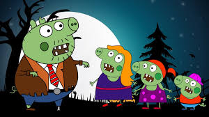 Toddler Halloween Coloring Pages by Peppa Pig Zombie Halloween Coloring Pages Kids Animation