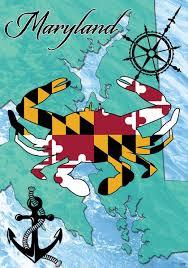 Maryland Flag Vinyl Amazon Com