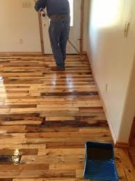 using wood how to build wood flooring from wood pallets diy project by using