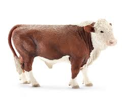 amazon com schleich hereford bull toy figure toys u0026 games