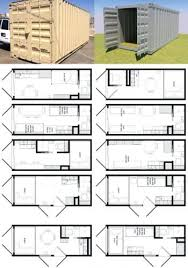 Shipping Container Floor Plan Wall Storage Shelf One Bedroom Bath Shipping Container Home Floor