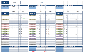 Workout Excel Template 5 Workout Template Excel Outline Templates