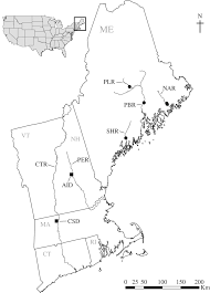 Map New England by Map Of The New England Study Region Including Connecticut Ct
