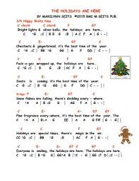 holidays are here children s song about during the december