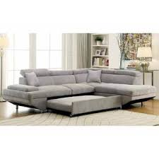 made in usa sofa furniture of america sectional sofa w pull out bed sleeper gray