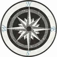 compass mosaic tile medallion 34 diameter compass roses
