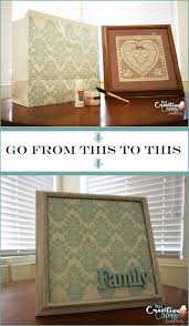 turn old frames and gift bags into stylish home decor