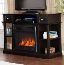gas fireplace tv console home design ideas