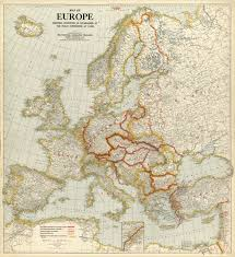 World War One Map by One Of The Earlier National Geographic Maps Published In 1920