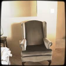 Velvet Wingback Chair Furniture Diy Wingback Chair Brwn Velvet Slipcovers Wing