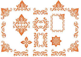 4 hobby machine embroidery designs ornaments autumn
