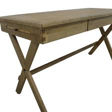 furniture u0026 organization wooden campaign desk with cross legs for