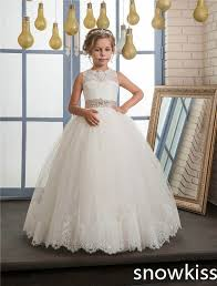 communion dress 2017 white ivory communion dress for girl with beaded