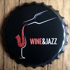 jazz home decor wine jazz metal bottle cap wall bar party home decor art painting