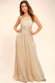 gold party dress lovely gold dress one shoulder dress maxi dress