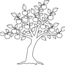 coloring fruit tree kids drawing coloring pages marisa