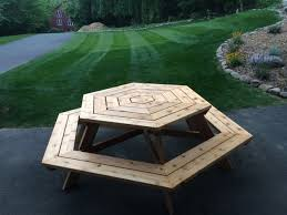Building Plans For Hexagon Picnic Table by Hexagonal Picnic Table Made By Bill Kelly